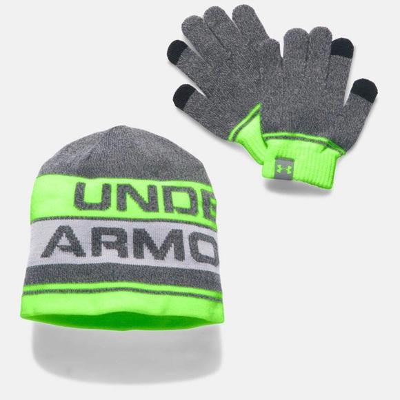 Boys Under Armour Hat and Glove Set b52f4435efa